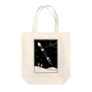 リコーダー星人 Tote bags