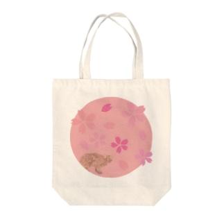 イリオモテヤマネコ 桜 Tote bags