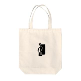 シンプルデザインアルファベットOワンポイント Tote bags
