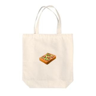 ピザトースト! Tote bags