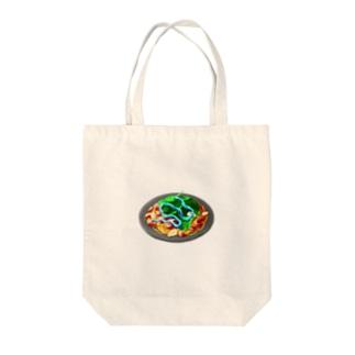 ほうれん草とベーコンと歯磨き粉のペペロンチーノ Tote bags