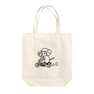 バイク犬 Tote bags