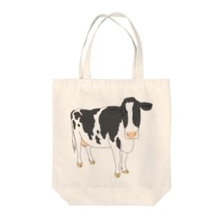ホルスタイン Tote bags