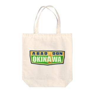 ABADDON OKINAWA GREEN LOGO Tote bags