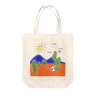 クマバチとメキシカンタイル Tote bags
