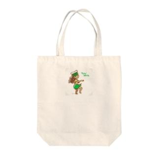 オリタヒチ(グリーンパレオ) Tote bags