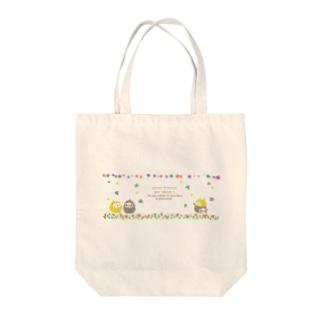 ペン吉&ペン助(お花畑) Tote bags