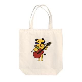 ギターフトシロウ Tote bags