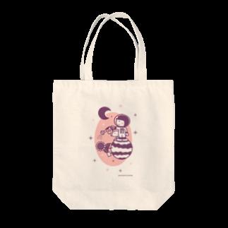 minimum universe / ミニマムユニヴァースのAstronauts - Flower Tote bags