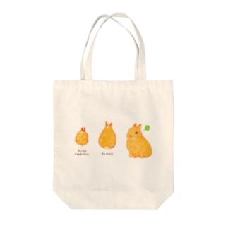 カニ爪フライとうさぎさん Tote bags