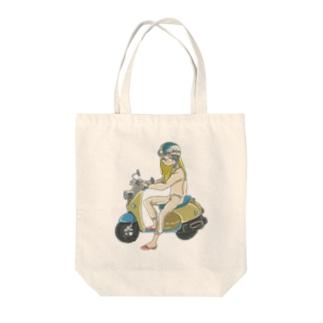 スクーター女子 Tote bags