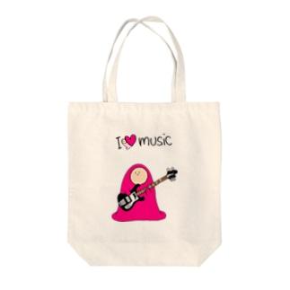 I LOVE MUSIC - アイラヴミュージック エレクトリックベースVer.  Tote bags