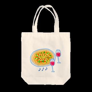 Qsarkの楽しいピザ・タイム Tote bags