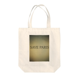 SAVE PARIS Tote bags