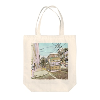 CG絵画:ポルトのダブルデッカーバス  Portugal: Double Decker bus in Porto Tote bags