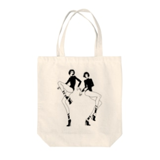 dancing girls Tote bags