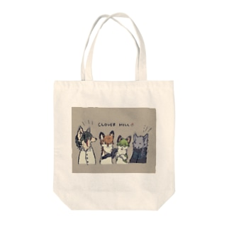 CLOVERHILLのゆるイラストトートバッグ Tote bags