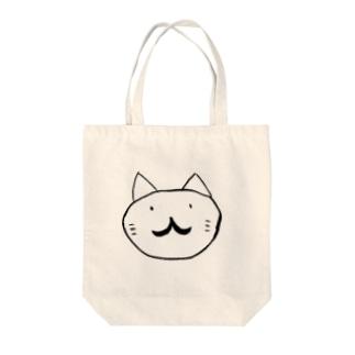 HIGE猫 Tote bags
