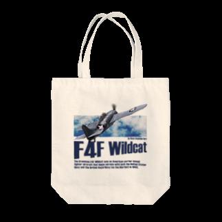 kazu Aviation ArtのF4F ワイルドキャット Tote bags