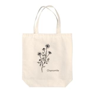 モノクロ〝カモミール〟イラスト Tote bags