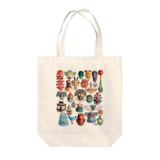 本濃研太の店のお面いっぱいいっぱい Tote bags