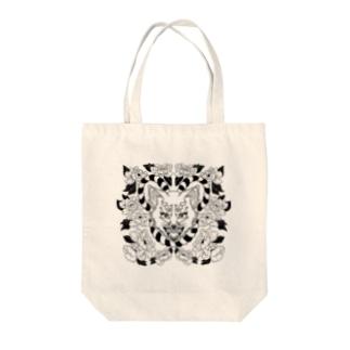 ワンちゃんとお花 Tote bags