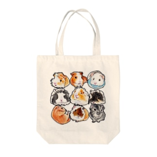 まるまるモルモットタイプE Tote bags