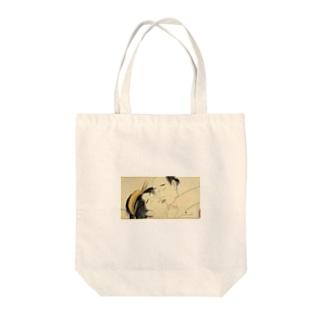 浮世絵 接吻 Tote bags