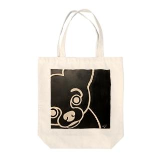 まるめのチワワのsirokuro Tote bags