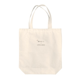 OPEN MIND Tote bags