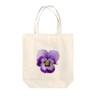 リアル〝ビオラ〟パープル Tote bags