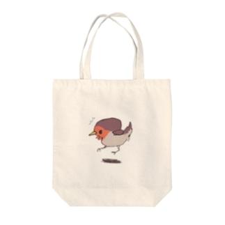 びっくりコマドリさん Tote bags