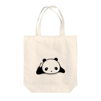 ぱんだ。 Tote bags