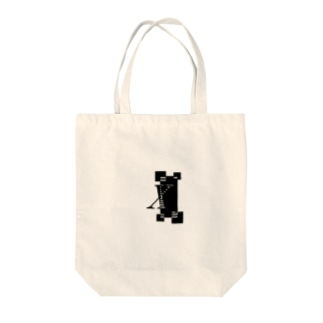 シンプルデザインアルファベットXワンポイント Tote bags