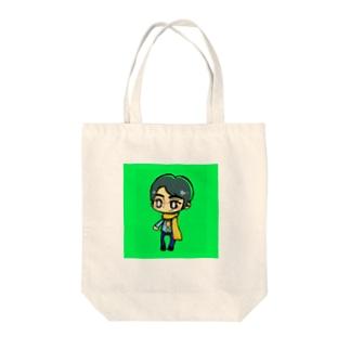 黄色マフラーの男の子じゅんくん Tote bags