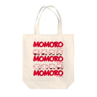 MOMOROS(WHITE) Tote bags