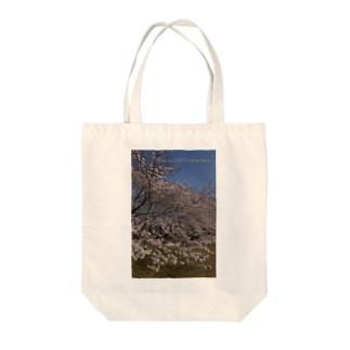 満開の桜 Tote bags