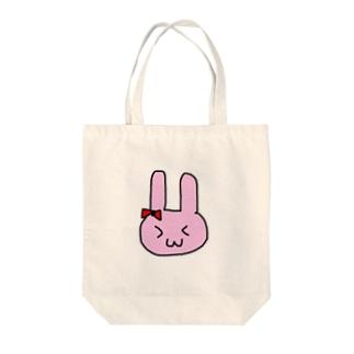 うさ丸太 Tote bags