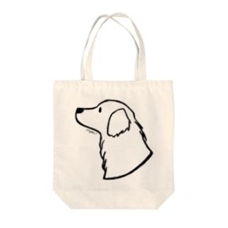 ゴールデン・レトリーバー〈線〉 Tote bags
