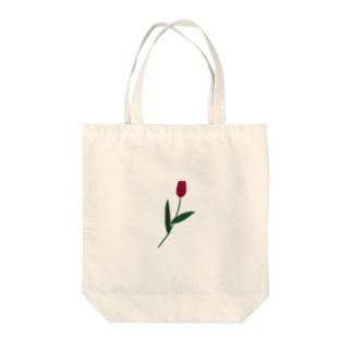 一輪のチューリップ🌷カラー Tote bags