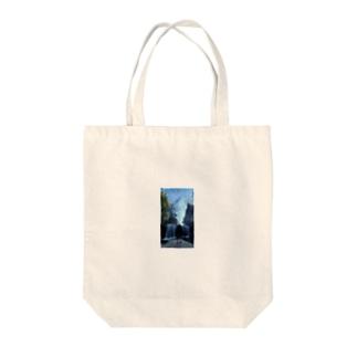 滝と背中 Tote bags