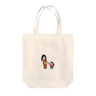 子連れ Tote bags