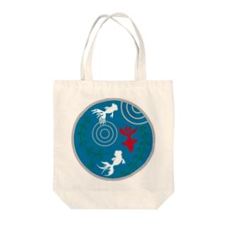 金魚・丸 Tote bags