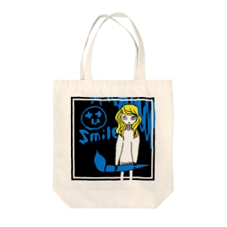 Photoshop girl BLUE(β版) Tote bags