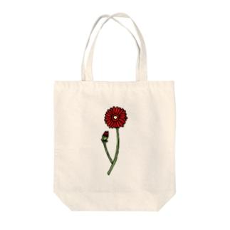 ガーベラ🌼レッド Tote bags
