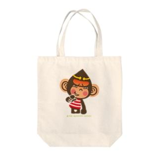 """ドングリ頭のチンパンジー""""失笑"""" Tote bags"""