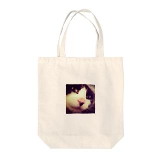 自撮り風猫 Tote bags