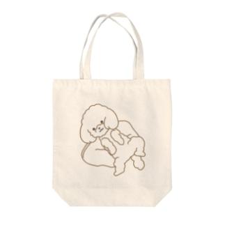 のびのびわんこ(透明) Tote bags