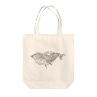 島鯨 Tote bags
