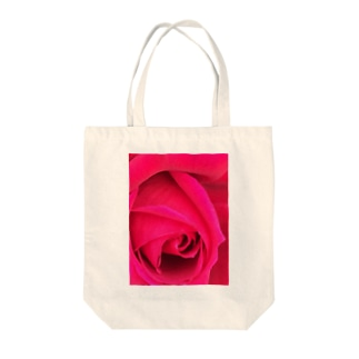 まっピンクなバラ Tote bags